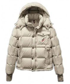 Moncler Reynold Featured Mens Down Jackets Cream-Colored http://www.onlakemac.com/moncler-jackets-men.html