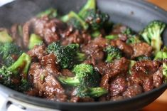 Beef and Broccoli This was SUCH a good recipe. It was so flavorful, and super easy to make. The only changes I made were to use mirin instead of sherry, and I didn't use any peppers or onions.