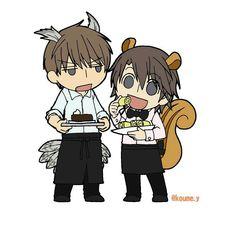 Yoshiyuki Hatori x Yoshina Chiaki (Sekai Ichi Hatsukoi) Junjou Domestica Manga Boy, Manga Anime, Chibi, Junjou, Yuri, Natsume Yuujinchou, Fujoshi, Anime Love, Kawaii Anime