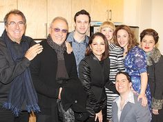 Kenny Ortega and Emilio and Gloria Estefan hang out backstage with the cast. See them in Beautiful at the Stephen Sondheim Theatre!