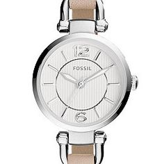 Georgia Mini White Leather Watch