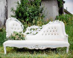 Silver Filigree Chaise on Franklin Farm