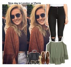 """Nice day in London w/ Perrie"" by aileen2704 ❤ liked on Polyvore featuring H&M, WalG, Wet Seal, Casetify, Acne Studios, Mimco, Illesteva, women's clothing, women's fashion and women"
