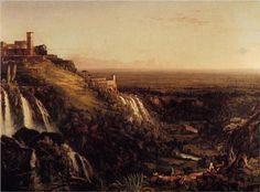The Cascatelli, Tivoli, Looking Towards Rome (View of Rome from Tivoli) - Thomas Cole