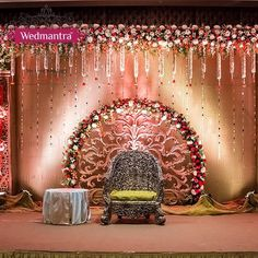 65 Trendy Ideas For Wedding Backdrop Backgrounds Brides Engagement Stage Decoration, Wedding Hall Decorations, Marriage Decoration, Backdrop Decorations, Flower Decorations, Garland Wedding, Backdrop Design, Decor Wedding, Wedding Ideas