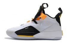 10603e93207f Air Jordan 33 White Black Yellow Men s Casual Sneaker Orange Basketball  Shoes