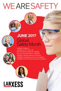 Safety Month poster for Lanxess Corporation