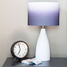 River of Goods Modern Indigo,, and White Ombre Fabric Base Table Lamp