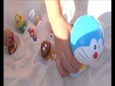 アンパンマンアニメおもちゃ アンパンマンやバイキンマンが砂の中に埋まっちゃうよぉ~♪ドラえもんやマリオもいるよぉ - STEP2砂場/Anpan...