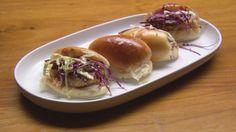 Beer Candied Bacon and Popcorn Chicken Sliders [Masterchef Australia 2014]
