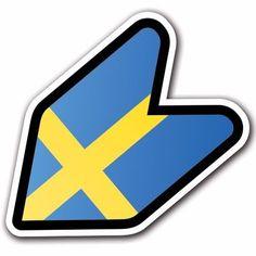 Sweden - JDM Wakaba Leaf Flag Decal Sticker Car Macbook Shoshinsha BMW Benz #CUSTOMI