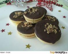 Margotková kolečka Czech Recipes, Christmas Cookies, Baking Recipes, Sweet Tooth, Pancakes, Cheesecake, Food And Drink, Pudding, Breakfast