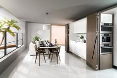 Kitchen | Porcelanosa - small kitchen solution