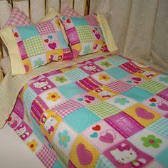 Edredón y la cama almohadas para 18 por PeachiesPetFashions