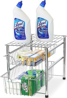 (This is an affiliate pin) Simple Houseware Stackable Sliding Organizer
