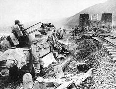 AA Halftrack protecting the sky over the Remagen Bridge  March 1945