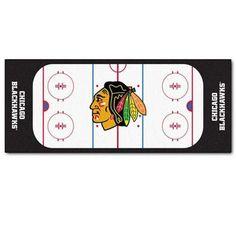 NHL Chicago Blackhawks Hockey Rink Accent Runner Rug