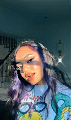 Hair Color Streaks, Hair Color Purple, Hair Dye Colors, Brown Hair Colors, Hair Highlights, Blue Hair, Dye My Hair, New Hair, 90s Grunge Hair