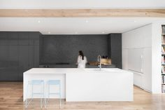 kitchen / Espace Panet is an apartment designed by Montreal-based Anne Sophie Goneau Design. Design of a space with an area of 1,035 sq.ft