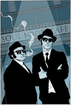 The Blues Brothers Blue Design Music Posters Rock