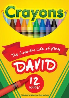 Crayons Children's Ministry Curriculum will teach kids about the colorful life of king David – a man after God's own heart. Childrens Ministry Deals, Youth Ministry, Children Ministry, Ministry Ideas, Object Lessons, Bible Lessons, Kids Church, Church Ideas, King David