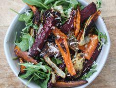 Harvest salad with lemon-lime vinaigrette | A Farmer in the Dell