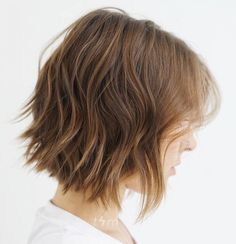 Textured Brown Bob Haircut