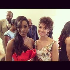 The gorgeous ladies of BELLE (Amma Asante and Gugu Mbatha-Raw!)  at Essence Women in Hollywood