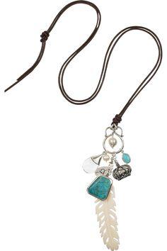 Chan Luu  Silver multi-pendant necklace  $210