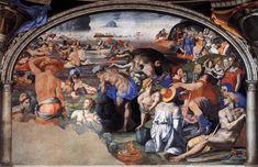 Bronzino, Crossing of the Red Sea, c1540–45, fresco, Chapel of Eleonora da Toledo, Palazzo Vecchio, Florence