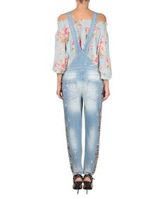 Amen Cotton denim overall with embroidery | Lindelepalais.com 71615
