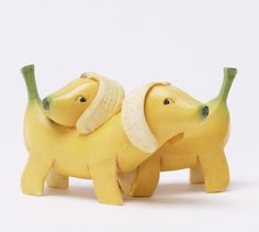 Enesco+Vegetable+Animals | Home Grown Veggie Animal Figurine - Banana Beagles, Puppy Love