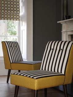 Clarke and Clarke Teatro fabric from the Traviata range Clarke And Clarke Fabric, Outdoor Chairs, Outdoor Furniture, Fabric Houses, Fabric Wallpaper, Soft Furnishings, E Design, Decoration, Fabric Design
