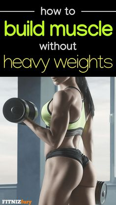 Lifting heavy weight is not the only way to build muscle. There are other ways that can stimulate muscle growth. Weight Lifting Quotes, Heavy Weight Lifting, Lift Heavy, Weight Loss, Lose Weight, Gain Muscle, Build Muscle, Muscle Tone, Body Building Tips