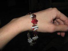 Upcycled Dr. Pepper can bracelet