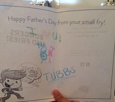 Thanks to all of the small fries who came in and created custom Father's Day cards for their dads! Fathers Day Ecards, Happy Father, Fries, Dads, Thankful, Fun, Fathers, Hilarious