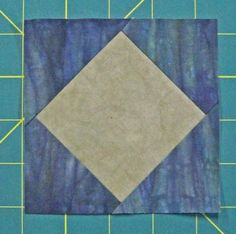 Square in a square quilt block: Traditional and paper piecing instructions for several size units. Free downloadable paper pieced patterns.