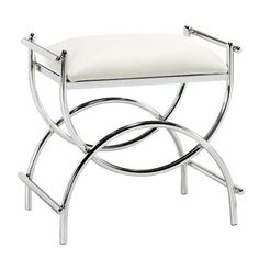 Curve Chrome Vanity Bench, 19.5″Hx20….