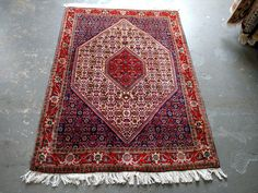 1980s Vintage Hand-Knotted Bijar Persian Rug (3598) by JahannAndSons on Etsy