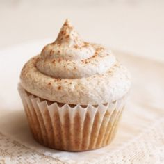 Snickerdoodle Cupcakes - Everything you love about the cookie, baked into a cupcake!
