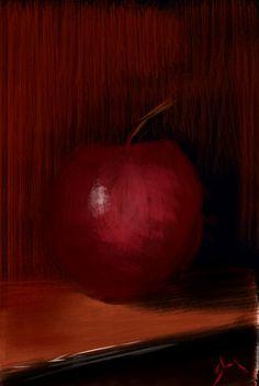 digital paintings- still life Apple