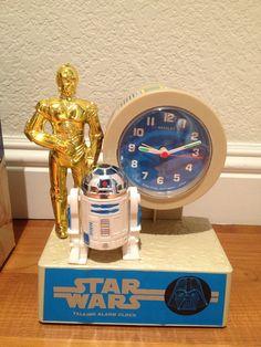 CHERRY MINT Star Wars quartz talking alarm clock by Bradley time