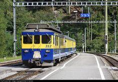 High quality photograph of BOB (Berner Oberland Bahnen, Switzerland) Series ABeh # 312 at Zweilutschinen, Switzerland. Location Map, Photo Location, Swiss Railways, Bob, High, Locomotive, Switzerland, Trains, Paths