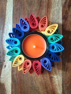Hand Made Chakra Tea Light Holders With Scented by Debbie Brannen.