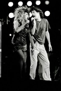 Givin' it the BUSINESS! || Tina Turner & Mick Jagger