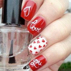 Happy Valentines Day Nails to Win His Heart: All You Need Is Love #valentinesday; #nails; #nailart; #naildesign