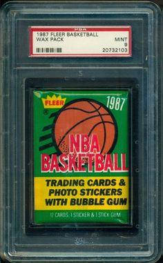 aaacfa7c51b 1987-88 FLEER BASKETBALL UNOPENED WAX PACK GRADED PSA 9 College Basketball