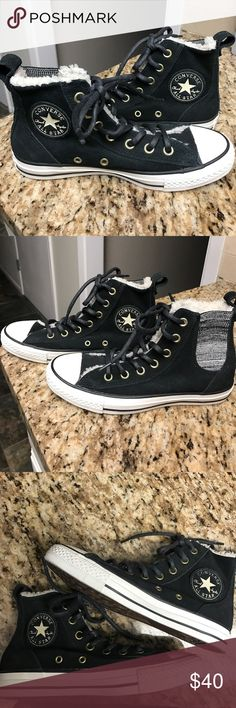Converse All Star High Top Suede Sneakers NWOT🎉🎉 Suede high top Converse All Star sneakers, lined with faux fur. Converse Shoes Sneakers