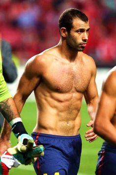 Javier Mascherano - Argentina Soccer Guys, Football Players, Fc Barcelona, Connor Mcgregor, Argentina Soccer, Bare Men, Football Is Life, Sport Man, Hot Guys