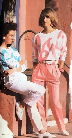 From the Spring-Summer 1987 Spiegel Catalog 1987 Fashion, 80s And 90s Fashion, Retro Fashion, Vintage Fashion, Men's Fashion, Decades Fashion, Fashion Through The Decades, Retro Outfits, Vintage Outfits